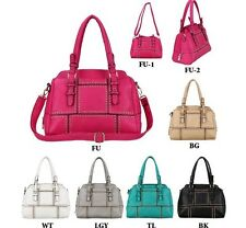 Mother's Day Studed Fashion Tote Purse Crossbody Bag Hot Pink + 4 Colors