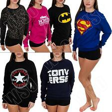 Homies Keep Calm Boy Superman Vouge Converse Batman Print Sweatshirt Top Jumper