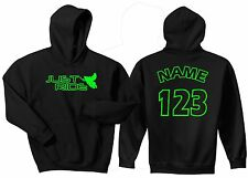 JUST RIDE SLED HOODIE SWEAT SHIRT SNOW MOBILE MACHINE SKI RACE NUMBER JACKET