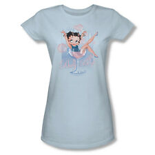 Betty Boop Cartoon Pink Champagne Bubbly Drink Youth Ladies Jr Men T-shirt Top