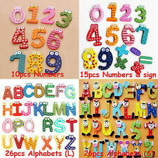 Numbers Alphabet Letters Fridge Refrigerator Magnets Icon Stickers Set Kit