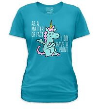 Jim Benton Unicorn Artwork cartoon I have a point Ladies Women Jr T-shirt top