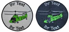 helicopter Chinook patch with your text 8cm embroidered logo (504-1)