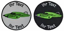 rc speedboat patch with your text 8cm embroidered logo (540-1)
