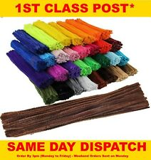 "Chenille Craft Stems Pipe Cleaners 30cm 12"" - Lots of Colours & Pack Sizes"