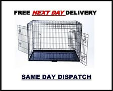 "DOG CAGES. DOG CRATES, METAL DOG CAGE, KENNEL, 24"" TO 48"" FOLD-ABLE PET CARRIER"