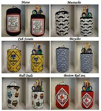 Cub Scout Bicycles Nurse Mustache Boston Red Sox pencil holder or eyeglass case