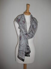 Bird Print Scarf / Scarves available in 4 Colours - Wrap Shawl Pashmina