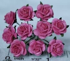 """Mulberry Paper Rose DEEP PINK 10mm 3/8"""" for scrapbook greeting wedding card"""