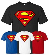New Mens Boys Kids Superman T-shirt Sweatshirt Top Cotton Hero T Shirt S M L XL