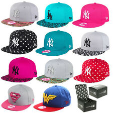 NEW ERA HATS & CAPS - WOMENS, GIRLS 9FIFTY SNAPBACKS & 59FIFTY FITTED SIZE CAPS