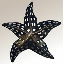 Starfish Wall Sconce, Tin, Hand Punched, Lighted