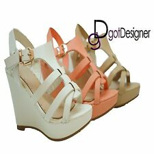 NEW Women's Fashion Shoes Platforms Wedges Heels Sandals Summer Comfort Open Toe