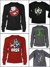 Minecraft Boys SZ 8 10/12 14/16 18/20 Long Sleeve Shirts Creeper Ghastbuster NWT