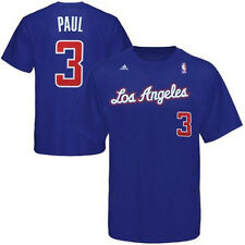 Chris Paul Shirt Name/Number Tee by Adidas Los Angeles Clippers Blue ADULT