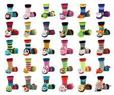 Baby Boys Girls Anti Slip Terry Socks with 3D Animal Rattle age 0-24 months CUTE