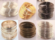 New 100loop Silver/Gold Plated Memory Steel Wire For Cuff Bangle Bracelet 60mm