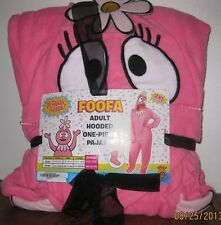 XL or 2XL YO GABBA GABBA! FOOFA Fleece Hooded Footed Pajamas Costume One Piece
