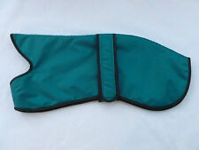"19"" 21"" 48-53cm AQUA WATERPROOF WHIPPET COAT WARM THERMAL LINING GREEN BLACK PAW"