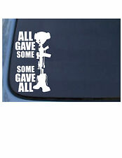 ALL GAVE SOME - SOME GAVE ALL / POW/MIA MILITARY Vinyl Window Decal/Sticker