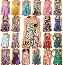 New Arrival New Women Dress Stretchy Colorful Printed BMO Scoop Skater Dress SML