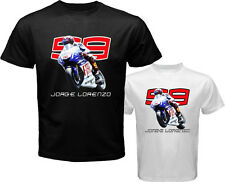 New JORGE LORENZO 99 Yamaha Moto GP Rider Men's White Black T-Shirt Size S-3XL