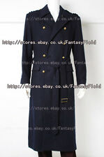 Torchwood Captain Jack Harkness Trench Coat Costume Black Wool Halloween Party