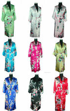 Wholesale red blue black pink white Chinese Silk Women's Kimono Robe Gown S-3XL