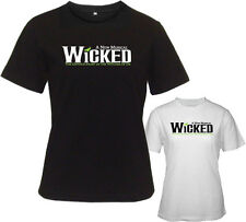 WICKED Broadway Musical Show Witches of Oz Womens White Black T-Shirt Size S-2XL