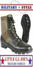 "OD GREEN Military Jungle Boots 8""- Vietnam Style Jungle Boots - Panama Sole 5080"