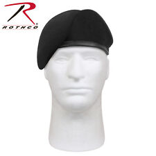BLACK G.I. Type Military Army Inspection Ready No Flash Wool Beret 4949