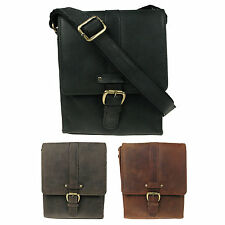 Womens Small Real Distressed Mens Leather Messenger Satchel Bag Vitali H062