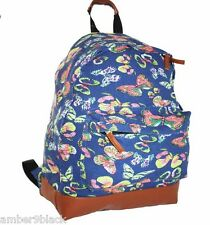 Canvas Bag Backpack Ladies Girls Rucksack School College A4 Travel + Free Gift