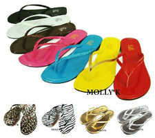 New Women FCS Shoes Flip Flops T- Beach Thongs Flats Slippers Size