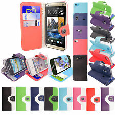 All New Magnetic Book Wallet Flip Leather Case Cover For Various Mobile Phones