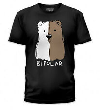 Goodie Two Sleeves Bipolar Black Mens Tee, Funny,Bear,Animal,Silly