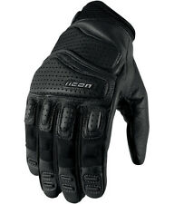 ICON MENS SUPER DUTY 2 GLOVES BLACK LEATHER MOTORCYCLE RIDING STREET NEW