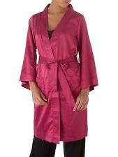 LEPEL GRACE SATIN ROBE DRESSING GOWN RASPBERRY PINK  BNWT