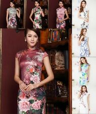Chinese Production of Short-sleeved Dress Cheongsam Dress Vintage Dress