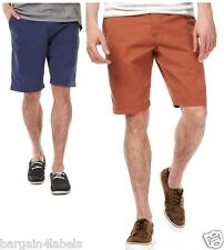 Mens M&S Pure Cotton Flat Front Chino Shorts 4 Colours Bnwot! RRP £25.00