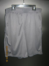 NWT Mens Under Armour Athletic Flat Drawstring Closure Polyester Solid Shorts