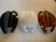 3set  6pcs NEW VINTAGE LARGE COMB BANANA CLIP HAIR RISER CLAW LOT