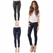 Ladies Midrise Super Skinny Fit Ankle Length Colour Wash Navy/green Denim Jeans