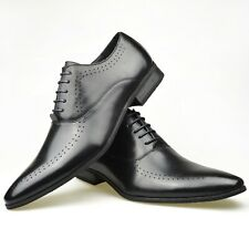 Mens New Casual Brown Leather Smart Formal Lace Up Shoes UK SIZE 6 7 8 9 10 11