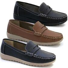 LADIES LOAFERS NEW WOMENS SMART FORMAL WALKING DRIVING DECK MOCCASINS SHOES SIZE