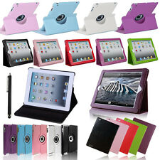 Leather 360 Degree Rotating & Smart Stand Case Cover For iPad 2 3 4 Mini Air
