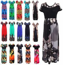 Ladies Womens Long Full Length Multi Floral Summer Maxi Evening All Day Dress