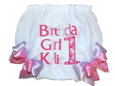 Personalized 1st Birthday Baby Girl Diaper Cover DOTS Lavender & Pink Free Shp