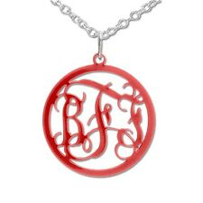 Acrylic Monogram Necklace - Choose Your Color