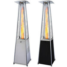 Garden Radiance Black or Stainless Steel Pyramid Outdoor Patio Heater - GRP4000